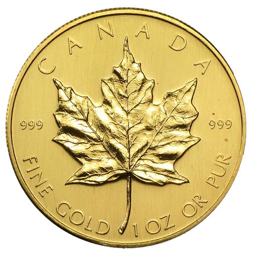Gold Canadian Mapleleaf Unc National Treasure Rare Coins