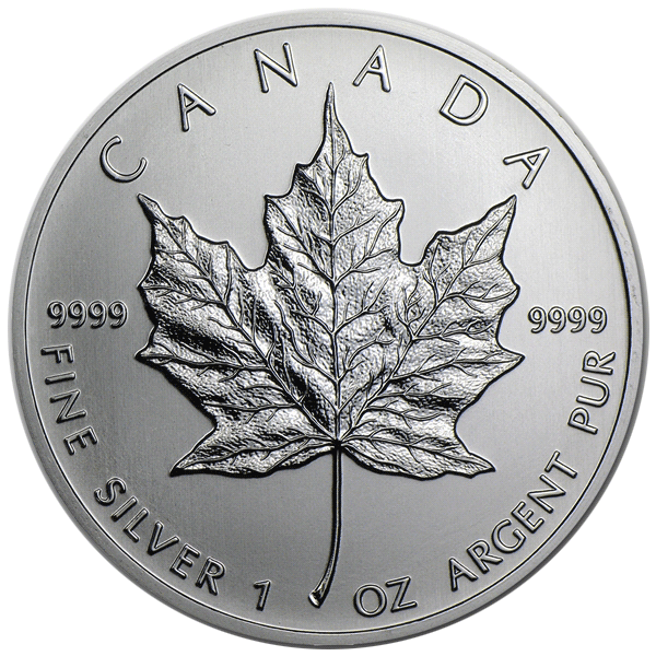 Silver Canadian Maple Leafs Unc National Treasure Rare